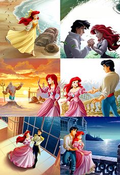 Ariel:))) When I was young I was obsessed with Ariel! She was my favorite princess.