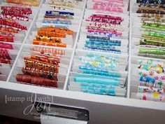 Ribbon Storage - I'm going to make a large one like the divided box I store my silk ribbons in