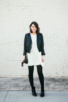 white dress with black black black