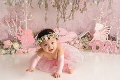 Little Girl Fairy Cake Smash Girls Dresses, Flower Girl Dresses, Baby Fairy, Cake Smash, Dory, Vivienne, Fairies, Little Girls, Pregnancy