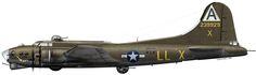 "Boeing B-17G Flying Fortress ""Lackin Shackin"" - Serial № 42-39929  USAAF 91 BG, 401 BS, Bassingbourn, Stn 121. 1944 год"