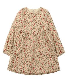 Another great find on #zulily! Brown Small Floral Dress - Toddler & Girls by Richie House #zulilyfinds