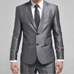 dark grey men wedding suits