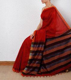 Red #Ethnic #Saree