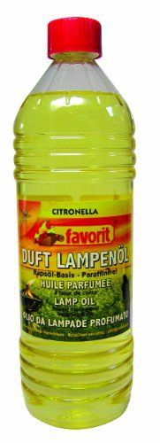 Huile à lampe Favorit à la citronnelle, 1 litre combustible liquide: Huile pour lampe (à base de colza) avec citronelle pour protéger des…