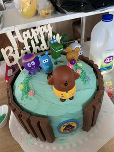 Cute Hey Duggee cake made with chocolate sponge and iced in vanilla buttercream. Easiest & best cake I have made to date! Buttercream Birthday Cake, Vanilla Buttercream, Chocolate Sponge, Chocolate Cake, Number 3 Cakes, Boy Birthday, Birthday Cakes, Diy Cake, Diy For Girls