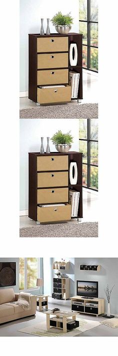 Dressers and Chests of Drawers 114397: Furinno 11159Ex Br Multipurpose Storage Cabinet W 4 Bin Drawers Espresso Brown -> BUY IT NOW ONLY: $46.99 on eBay!