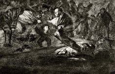 Francisco Goya, 'Absurdity Funeral' 1823 from the 'Disperate' series, Etching and Aquatint