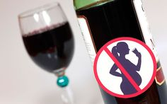 Glass and bottle of red wine with Unsuitable for pregnant women sign Wine While Pregnant, Red Wine Health Benefits, Pregnancy Stages, Alcohol, Campaign, Drop, Sign, Woman, News