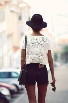Lace blouse. #Fashion#Style