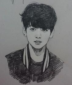 Bts Jungkook Fanart Credit to owner Jungkook Fanart, Bts Jungkook, Fanart Bts, Kpop Drawings, Pencil Drawings, Pencil Art, Fan Art, Bts Chibi, Bts Fans