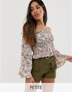 Order Parisian Petite off shoulder shirred top in ditsy floral online today at ASOS for fast delivery, multiple payment options and hassle-free returns (Ts&Cs apply). Get the latest trends with ASOS. Shoulder Cut, Off Shoulder Tops, Off Shoulder Blouse, Ripped Jeans Look, Ditsy Floral, Parisian, Fashion Online, Latest Trends, Asos