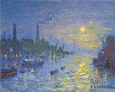 Clark Art, Art Gallery, British Artists, River, Painters, Modern, Oil, Website, Stars