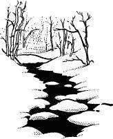 Winter Stream Scene • I-132