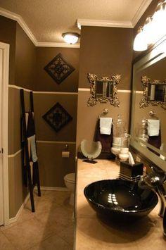40 Best Color Schemes Bathroom Decorating Ideas on a Budget 2019 69 Bathroom Decoration brown bathroom decor Brown Bathroom Decor, Gold Bathroom, Bathroom Colors, Modern Bathroom, Small Bathroom, Bathroom Ideas, Downstairs Bathroom, Bathroom Designs, Bathroom Renovations