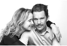 before-sunrise-sunset-midnight:  Julie Delpy and Ethan Hawke Portrait by Brigitte Lacombe