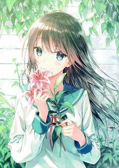 Pretty Anime Girl, Cool Anime Girl, Beautiful Anime Girl, Kawaii Anime Girl, Anime Art Girl, Kawaii Art, Manga Girl, Art Manga, Chica Anime Manga