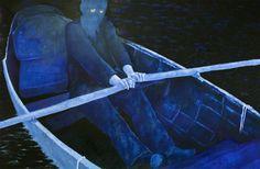 O Barqueiro | 322 x 200 | óleo e folha de ouro s/ tela | 2013
