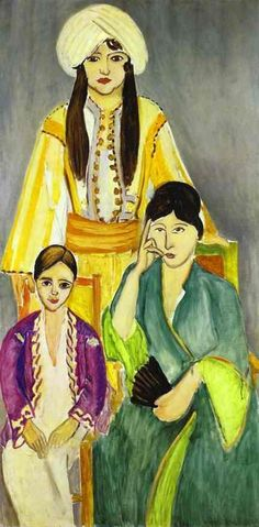 Matisse, Henri - Three Sisters (Triptych - Central part) - Fauvism - Portrait - Oil on canvas