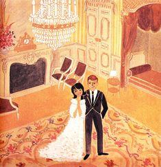 Art - John & Jackie Kennedy - by Jacqueline Duheme Photo Illustration, Graphic Design Illustration, Illustrations, Mrs Kennedy, Jfk Jr, Family Painting, Art Folder, Sculpture, Pretty Art