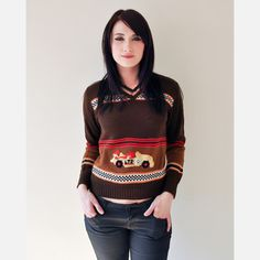 Speedracer 70s Novelty Sweater now featured on Fab.
