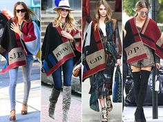 Everyone's Wearing ... Monogrammed Burberry Blanket Ponchos (Yes, Really!) http://stylenews.peoplestylewatch.com/2014/09/18/sarah-jessica-parker-rosie-huntington-whiteley-olivia-palermo-burberry-poncho/