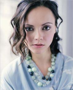 Christina Ricci. Female Celeb crush. What can I say...I like big foreheads.