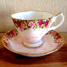 Royal Albert Peach Damask tea cup and saucer