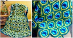 Crochet Gorgeous Peacock Feathers To Make Stunning Blanket Peacock Crochet, Crochet Feather, Knit Or Crochet, Crochet Shawl, Crochet Crafts, Crochet Stitches, Crochet Projects, Crochet Patterns, Crochet Ideas