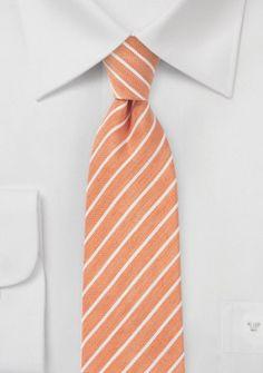 Trend-Krawatte kupfer-orange marmoriert Streifen