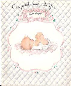 vintage baby cards | Vintage Baby Congratulations Card Unique Unused | eBay