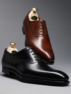 Beaumont, a take on the classic Balmoral Oxford. With a fine gimped side, toe medallion and whole cut design. Made using the finest calf leather or calf suede with bark tanned single leather soles. From the Hand Grade collection.
