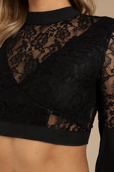 Past Midnight Lace Crop Top Past Midnight Black Lace Crop Top Black Lace Crop Top, Lace Crop Tops, Alternative Mode, Alternative Fashion, Cropped Tops, Crop Top Outfits, Body Con Skirt, Black Models, Plus Size Tops