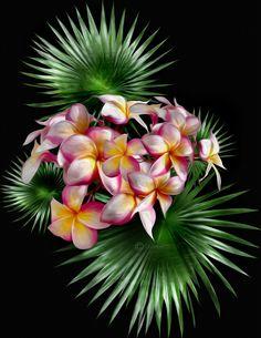 Island Flowers(Digital Painting) by chamirra.deviantart.com on @DeviantArt