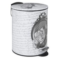 Mathilde M - Poubelle de salle de bain, Roses