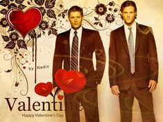 Happy Supernatural Valentine's Day by ~Nadin7Angel I want these for valentine day
