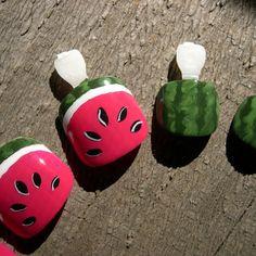 17 trendy nails art for kids watermelon Pedicure Nail Art, Toe Nail Art, Manicure, Watermelon Nail Art, Watermelon Designs, Nail Art For Kids, Summer Toe Nails, Cute Toe Nails, Trendy Nail Art