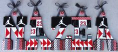 Hand Painted Nursery Wall Letters Kids Baby by CuteKidCreations