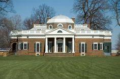 Monticello, Virginia  Thomas Jefferson Home