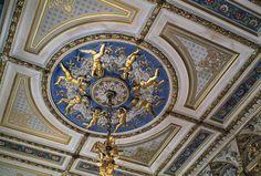 Museo Revoltella, Trieste - Salotto giallo di Palazzo Revoltella - particolare del soffitto