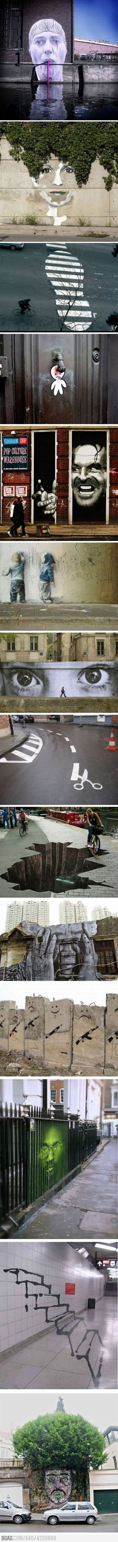 Funny pictures about Urban street art. Oh, and cool pics about Urban street art. Also, Urban street art.