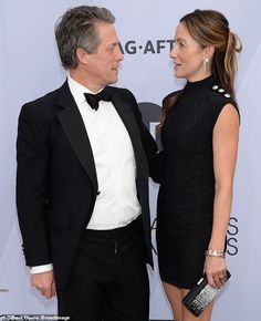Sweet display: Hugh and his glamorous partner put on a loved-up display together Hugh Grant Wife, Sag Awards, Put On, Red Carpet, Thighs, Celebrity Style, Anna, Glamour, Display