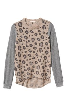 Leopard sweater.