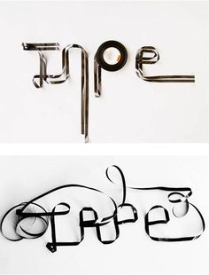 Experimental typography in photography. Design.