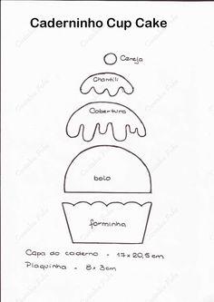 Artes by Rosa Natalia: Caderninho de receitas Cupcake em EVA