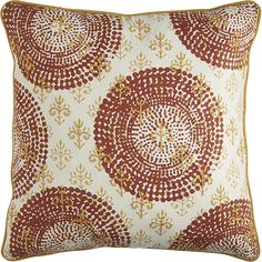 Embroidered Suzani Pillow - Rust & Honey   Pier 1 Imports