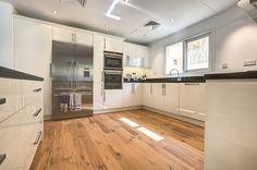 Rustic vs. Modern Kitchen | Kährs Husk Oak #nordichomeworx #kährs #wood #woodflooring #parquet #floors #floor #wood #dubai #mydubai #uae #middleeast #renovation #villa #familyhome #oak #interiors #interiordesign #design #inspiration #inspo #deco #sweden #scandinaviandesign #studiozee #photography