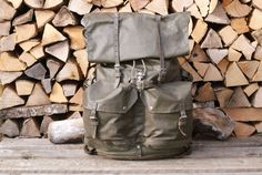 Extra large, expandable waterproof rucksack with 5 extra straps. This heavy is as durable as it looks. Swiss Army Bag, Army Rucksack, Vintage Backpacks, Bradley Mountain, Bags, Handbags, Bag, Totes, Hand Bags