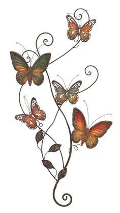 Vine of Butterflies Metal Wall Sculpture