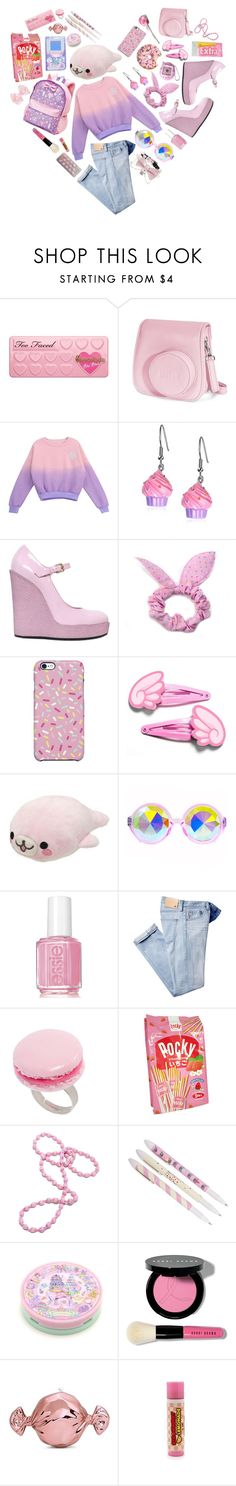 """Kawaii"" by lollikit ❤ liked on Polyvore featuring Too Faced Cosmetics, Fujifilm, Chicnova Fashion, Hogan, Uncommon, CO, Essie, And Mary, Bobbi Brown Cosmetics and Judith Leiber"